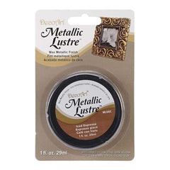 Deco Art - Metallic Lustre Wax Finish 1Oz - Iced Espresso