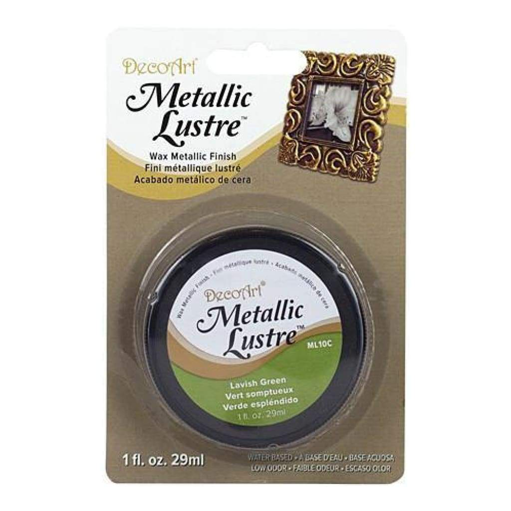 Deco Art - Metallic Lustre Wax Finish 1Oz - Lavish Green