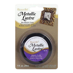 Deco Art - Metallic Lustre Wax Finish 1Oz - Majestic Purple