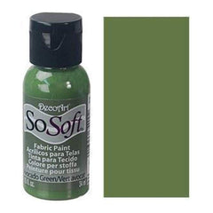 Deco Art - Sosoft Fabric Acrylic Paint 1Oz - Avocado Green
