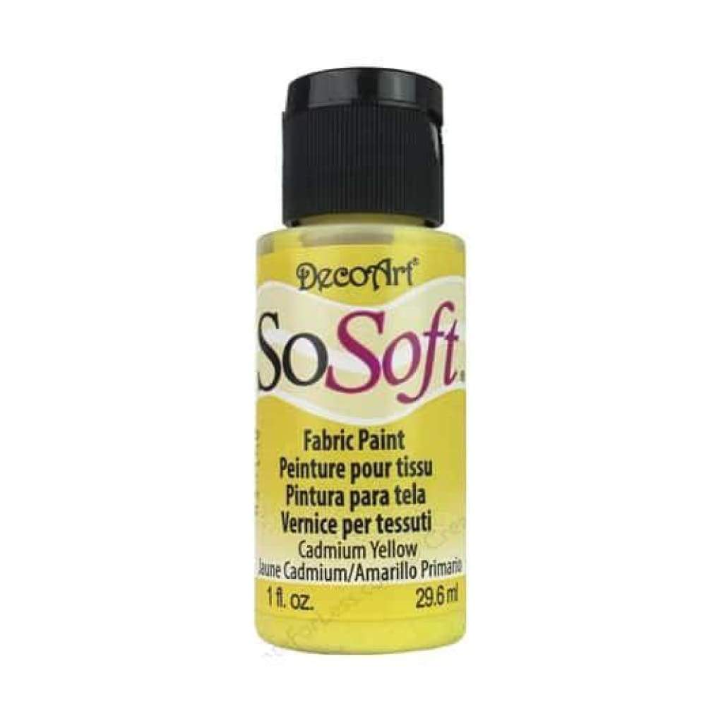 Deco Art - Sosoft Fabric Acrylic Paint 1Oz - Cadmium Yellow