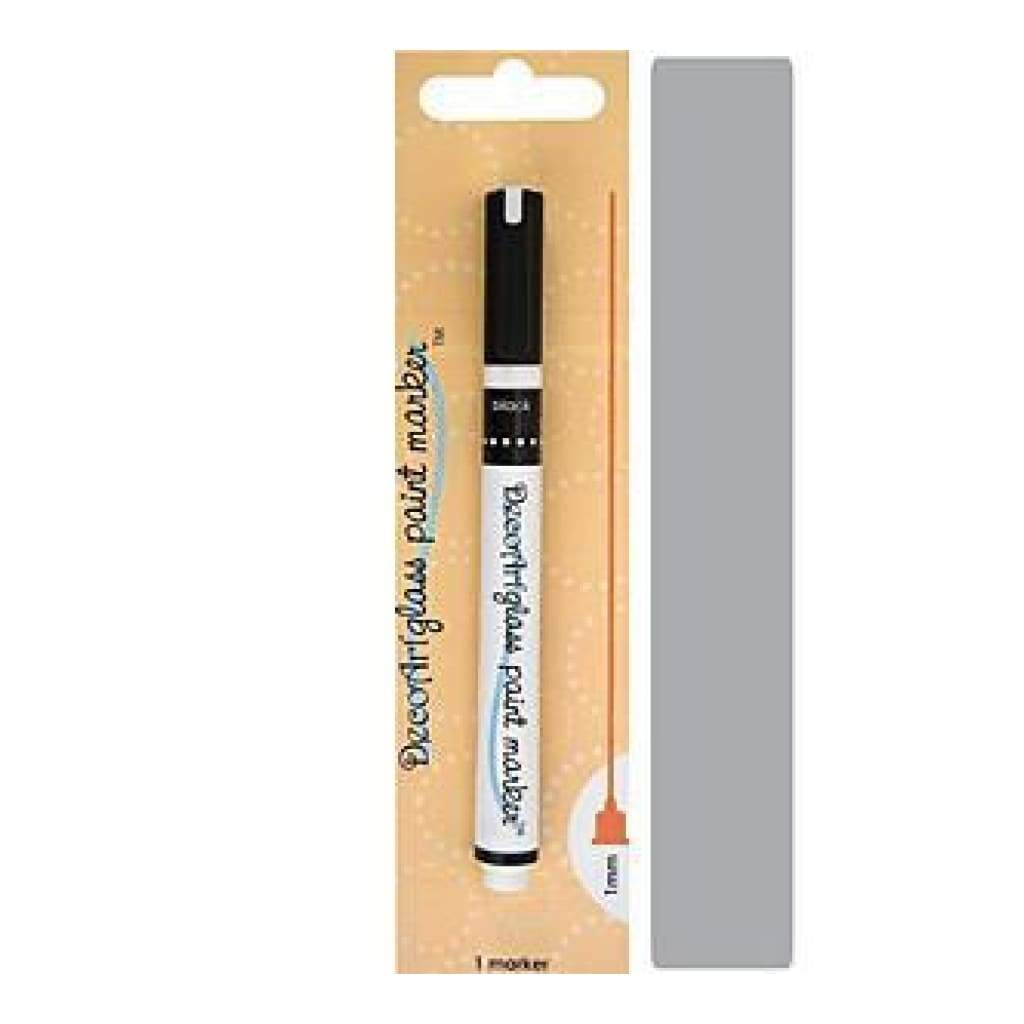 Decoart Glass Paint Marker 1Mm - Silver