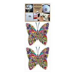 Decorprint Artystick Decorative Stickers 3.75 inch X7.75 inch Butterfly