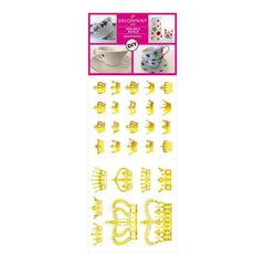 Decorprint Peelable Decals 3.75 inch X7.75 inch Gold Crown