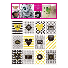 Decorprint Peelable Decals 7.75 inch X7.75 inch Luxury Note