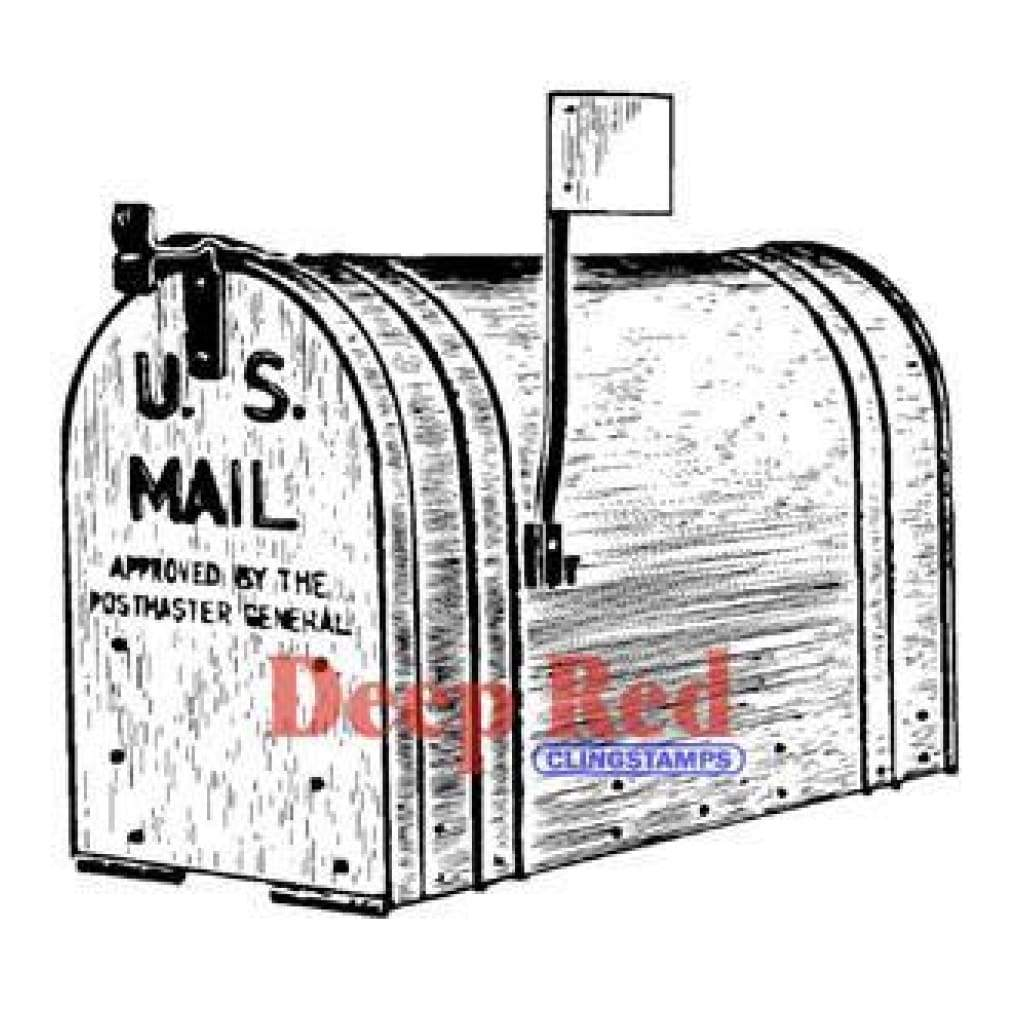 Deep Red Stamps - Outgoing Mail
