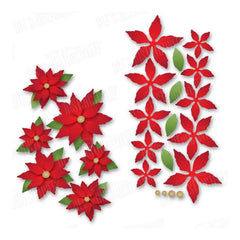 Dees Distinctively Dies Mini Poinsettias 2.75X4.88