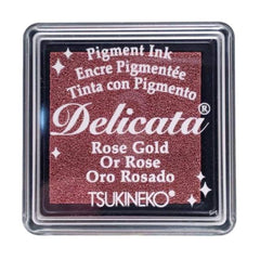 Delicata Small Pigment Inkpad - Rose Gold