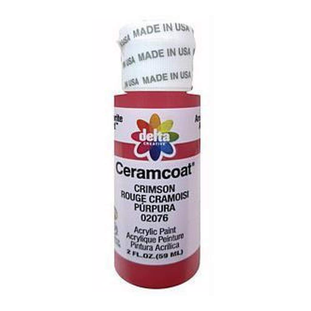 Delta - Ceramcoat Acrylic Paint 2Oz - Crimson - Transparent