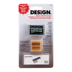 Design Art Erasers 3 pack