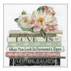 Design Works Counted Cross Stitch Kit 10 inch X10 inch Love Is (14 Count)