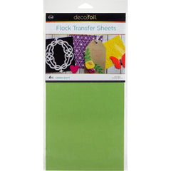Deco Foil Flock Transfer Sheets 6inch X12inch 4 pack - Green Envy