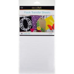 Deco Foil Flock Transfer Sheets 6inch X12inch 4 pack - White Latte
