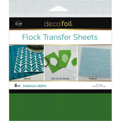 Therm O Web - Deco Foil Flock Transfer Sheets 6 inchX6 inch 6 pack - Emerald Green