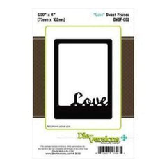 Die-Versions Sweet Frames Die Love 2.9In. X4in.