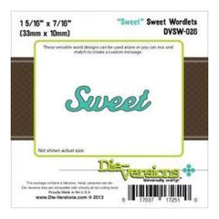 Die-Versions Sweet Wordlets Die Sweet 1.937In. X.4375In.
