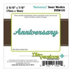 Die-Versions Sweet Wordlets Die Anniversary 2.937In. X.4375In.