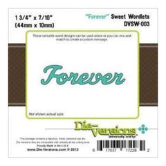 Die-Versions Sweet Wordlets Die Forever 1.75In. X.4375In.