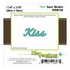 Die-Versions Sweet Wordlets Die Kiss 1.125In. X.437In.