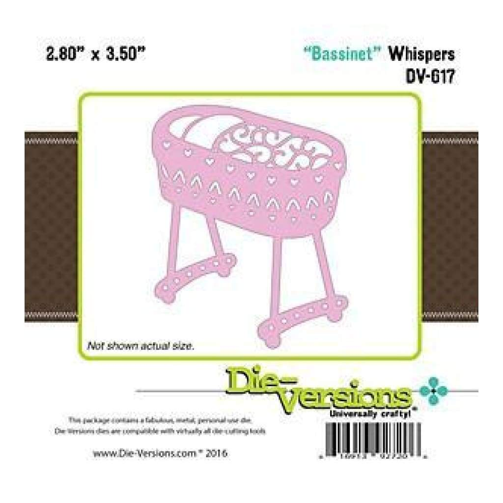 Die-Versions Whispers Die - Bassinet2.80In. X3.50In.