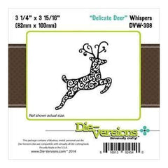 Die-Versions Whispers Die Delicate Deer  3.25Inchx3.9375Inch