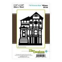 Die-Versions Whispers Die Tall Victorian Home 3.25Inch X4.375Inch