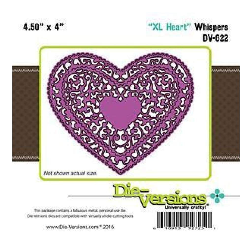 Die-Versions Whispers Die - Xl Heart4.50In. X4in.