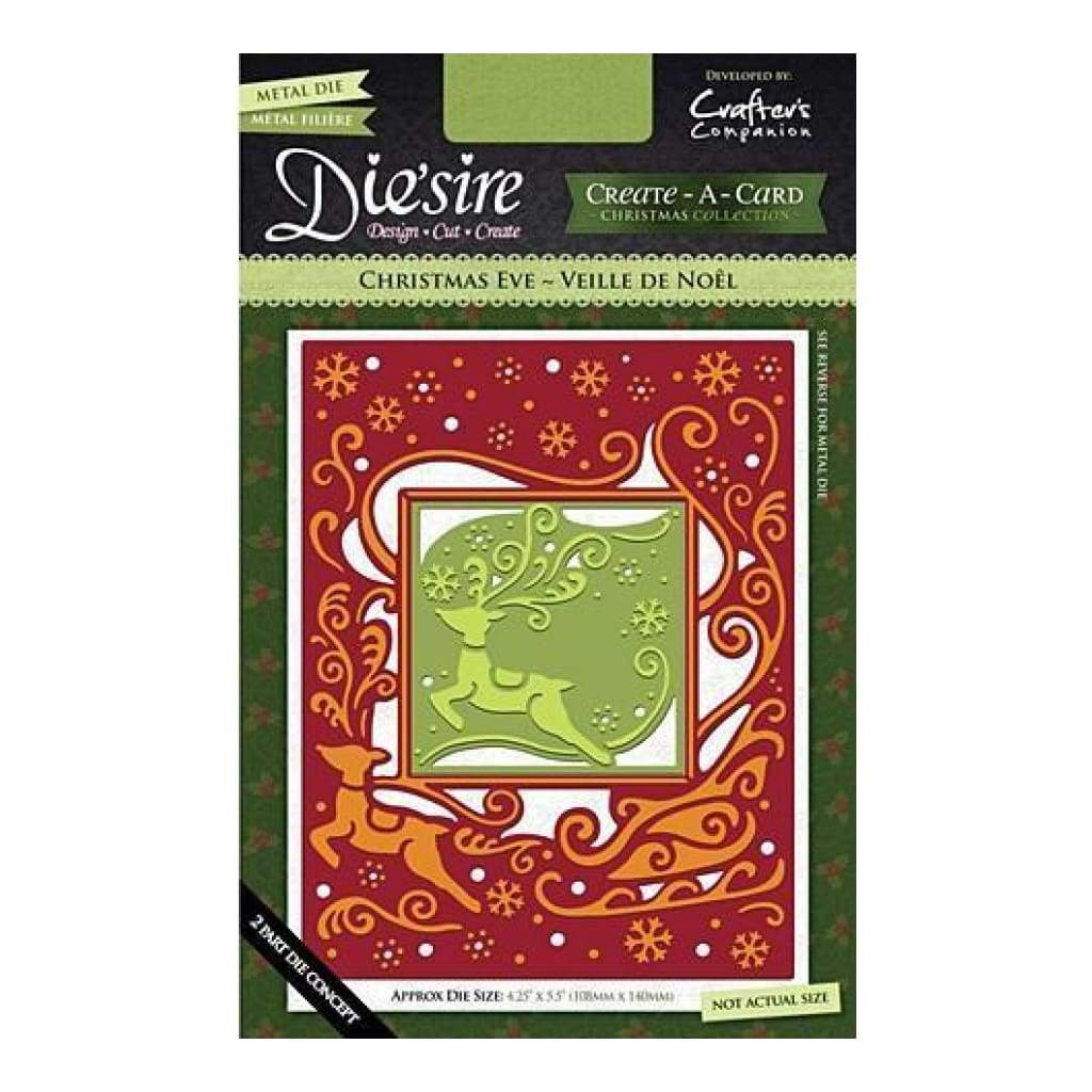 CHRISTMAS EVE Crafters Companion Die/'sire Create a Card Christmas Die