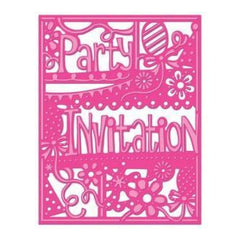 Die'sire Create-A-Card Cutting & Embossing Die Party Invitation
