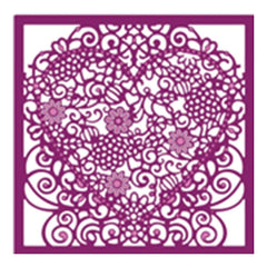 Die'sire Create-A-Card Interchangeable Dies Floral Lace, 5X5