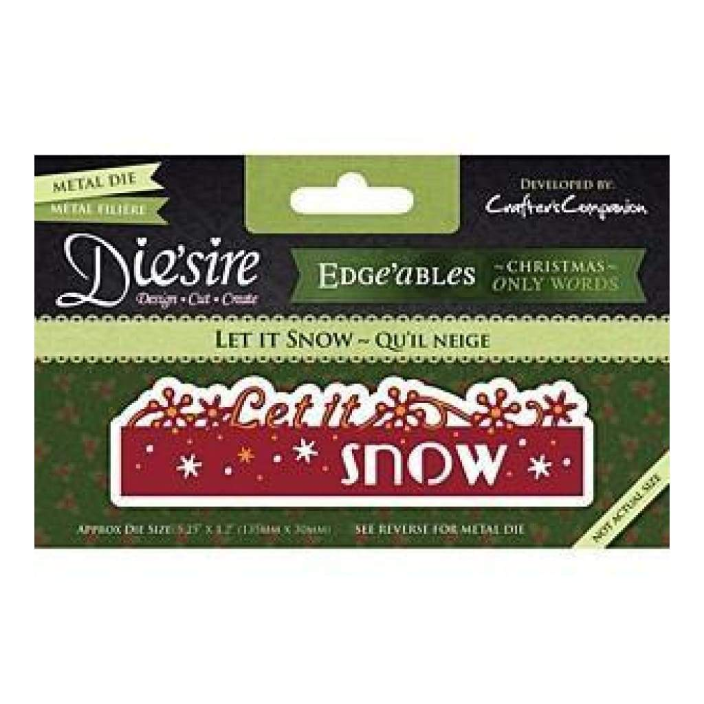 Die'sire Edge'ables Cutting & Embossing Die - Let It Snow