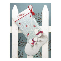 Dimensions Counted Cross Stitch Kit 16 inch Long Snow Bears Stocking (14 Count)