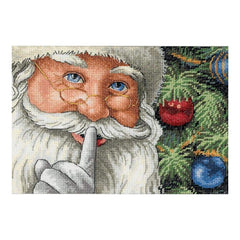Dimensions Gold Petite Counted Cross Stitch Kit 7 inch X5 inch Santas Secret (18 Count)