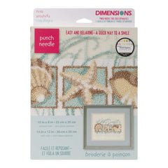 Dimensions Punch Needle Kit 10 inch X8 inch Seashells