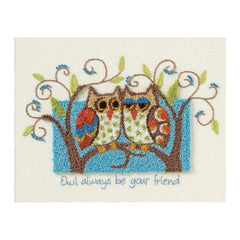 Dimensions Punch Needle Kit 10X8 Owl Always Be Your Friend