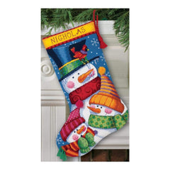 Dimensions Stocking Needlepoint Kit 16 inch Long Freezin Season Stitched Wool & Thread