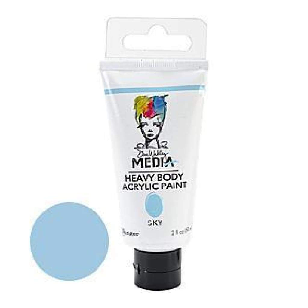 Dina Wakley Media Heavy Body 2Oz Acrylic Paints - Sky