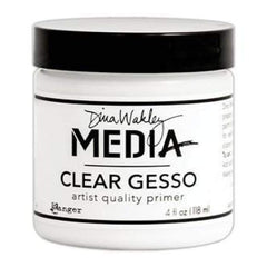 Dina Wakley Media Mediums Clear Gesso 4Oz  - Jar