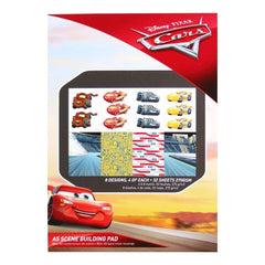 Disney A5 Scene Building Pad 32/ pack Cars 3, 8 Designs/4 Each
