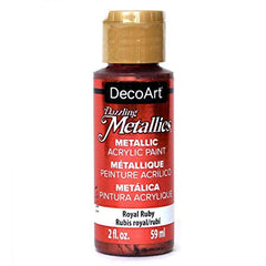 Deco Art Dazzling Metallics Acrylic Paint 2oz - Royal Ruby