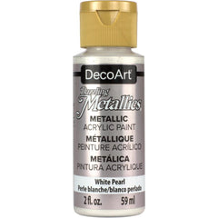 Deco Art - Dazzling Metallics Acrylic Paint 2oz - White Pearl