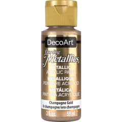 Deco Art Dazzling Metallics Acrylic Paint 2oz - Champagne Gold