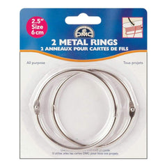 "DMC Metal Rings 2.5"" 2 pack"