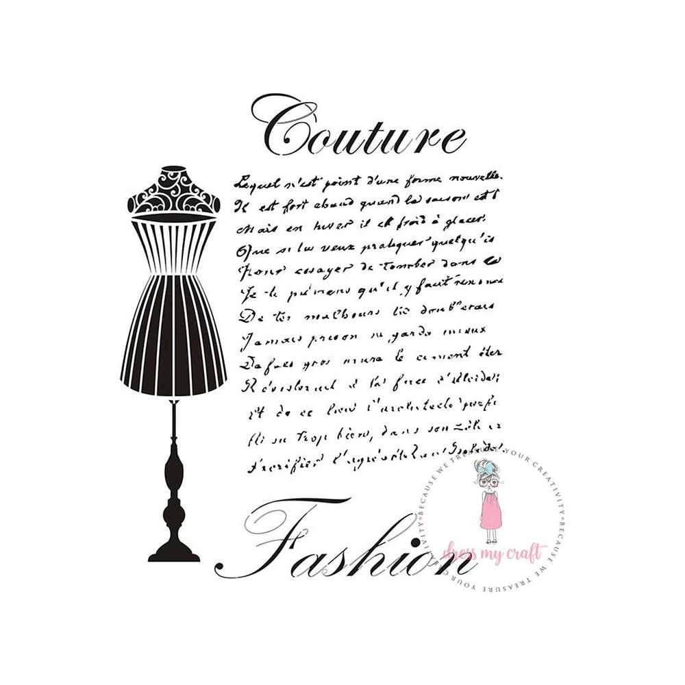 Dress My Craft - Stencil A4 - Couture Fashion