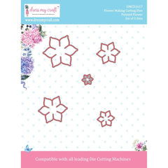 Dress My Crafts Designer Cutting Dies 5 pack Pointed Flower .15inch To 1.75inch