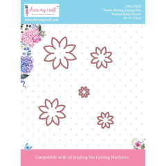 Dress My Crafts Designer Cutting Dies 5 pack Pointed Daisy Flower .5inch To 1.5inch