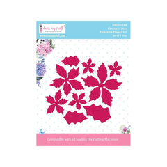 Dress My Craft - Dies - Poinsettia Flower Set