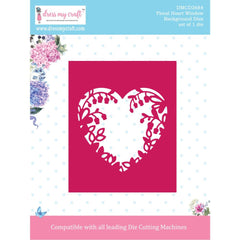 Dress My Craft Dies - Background- Floral Heart Window