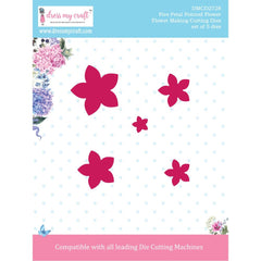 Dress My Craft Dies Flower Making- 5 Petal Pointed Flower