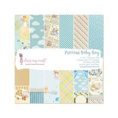 Dress My Crafts - Single-Sided Paper Pad 6X6in 24 per pack Precious Baby Boy
